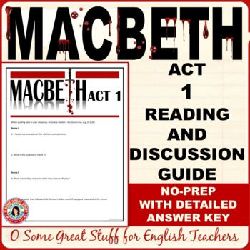 MACBETH Act 1 Questions for Comprehension and Analysis with Detailed Key