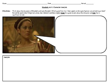 Macbeth Act 1 Quote Analysis