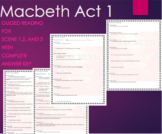 Macbeth Act 1: Scene 1, 2, 3 Guided Reading Questions with
