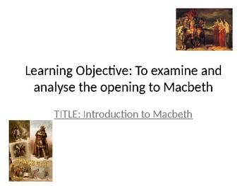 Macbeth Act 1, Scene 1 Analysis Lesson