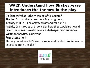 Macbeth Act 1 Scene 1 - Themes and Key Terminology Lesson