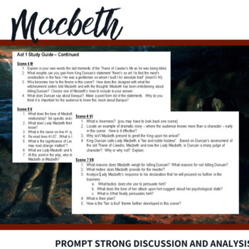 Macbeth Act 4 Study Guide Questions | Free Essays ...