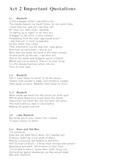 Macbeth Act 2 Key Quotations