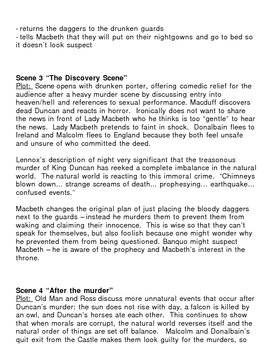 Macbeth Act 2 Lecture Notes