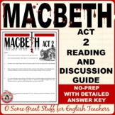 MACBETH Act 2 Questions for Comprehension and Analysis with Detailed Key