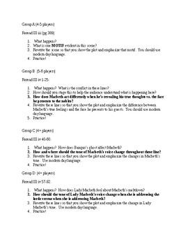 Macbeth Act 3 Active Study