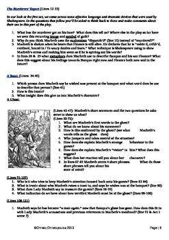 Macbeth: Act 3 Activities
