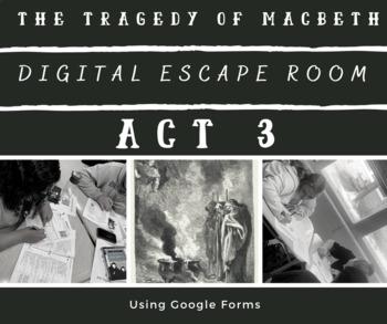 Macbeth Act 3 Escape Room Activity