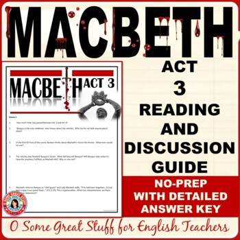 MACBETH  Act 3 Questions for Comprehension and Analysis with Detailed Key