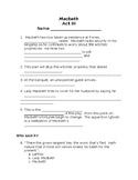 Macbeth Act 3 Quiz