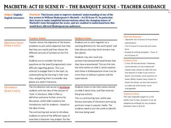 Macbeth: Act 3 Scene 4 - The Ghost (Banquet) Scene!