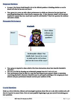 Macbeth: Act 5 Activities