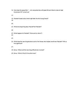 Macbeth Act 5 Quiz