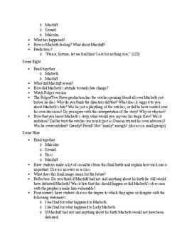 Macbeth Act Five Plan