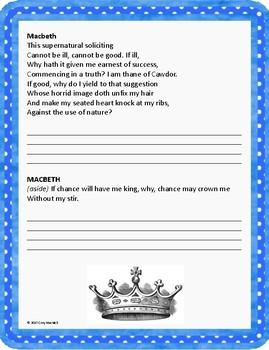 Macbeth Act I Characterization