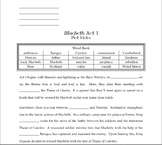 "Macbeth Act I ""Plot Holes"""
