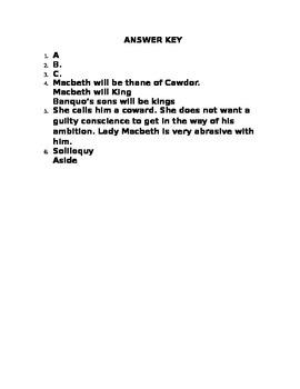 Macbeth Act I Quiz