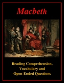 Macbeth - Act II Reading Comprehension and Vocabulary Exercises
