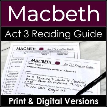 Macbeth Act 3 Study Guide