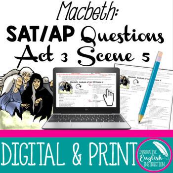 Macbeth:  Act III Scene V (Hecate's scene) SAT/AP-Style Questions