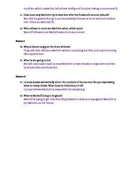 Macbeth Act III Study Guide and Key