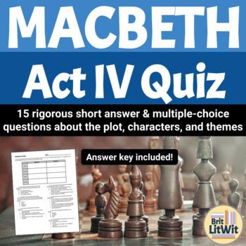 Macbeth, Act IV Quiz