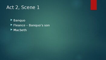 Macbeth Act Two Powerpoint