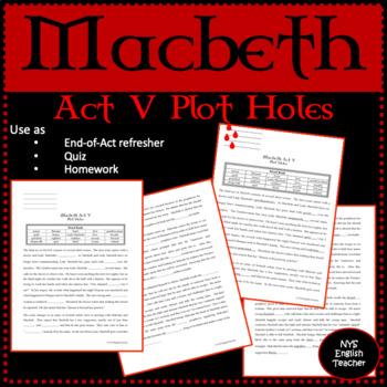 """Macbeth Act V """"Plot Holes"""""""