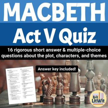 Macbeth, Act V Quiz
