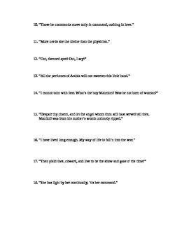 Macbeth Act V Quotable Quotes