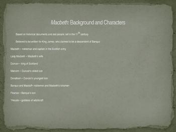 *Editable*** Macbeth Active Reading Guide