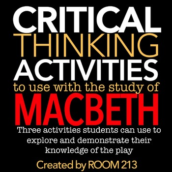 Macbeth Activities: Critical Thinking Exercises