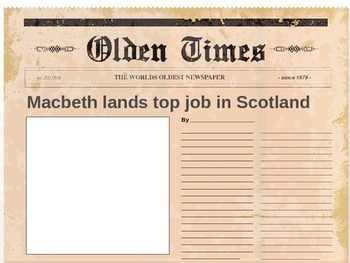 Macbeth Activity (Headlines)