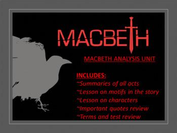 Macbeth Analysis Unit