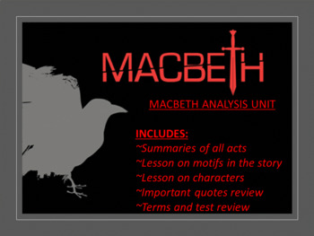 Macbeth Analysis Unit