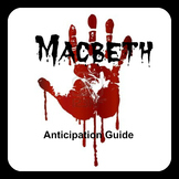 Macbeth Anticipation Guide FREEBIE