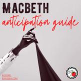 Macbeth Anticipation Guide (Fillable .pdf, Google Form, Go