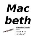 Macbeth Assessment Bundle