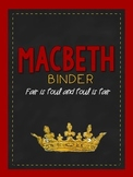 Macbeth Organizer: Covers, Spines & Planning Sheets