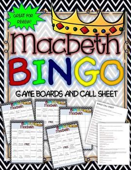 MACBETH BINGO: INSTRUCTIONS, GAME BOARD, AND CALL SHEETS