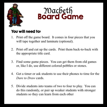 Macbeth Board Game