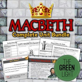 Macbeth Bundle: Unit Plan, Worksheets, Projects, PowerPoin