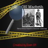 Macbeth CSI Crime Board