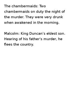 Macbeth CSI Pre-reading acvitity
