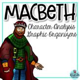 Macbeth Character Analysis Graphic Organizers (William Shakespeare)
