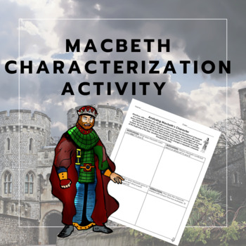Free - Macbeth Characterization Activity RI 3 - FREE