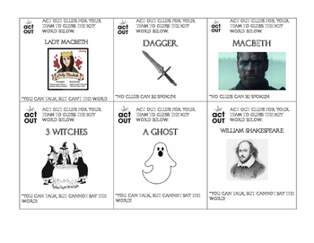 Macbeth Charades and Pictionary