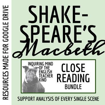 Macbeth Close Reading Passages & Questions Bundle (Set of 5)