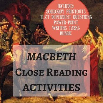 Macbeth Close Readings (4 Soliloquies!)