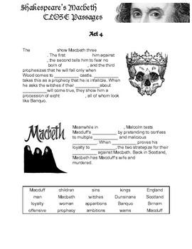 Macbeth Cloze Reading Passages